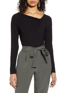 Halogen® Twist Neck Fashion Knit Top