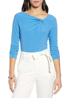 Halogen® Twist Neck Fashion Knit Top