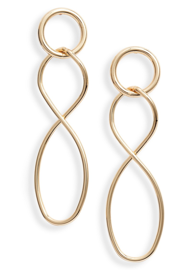 Halogen® Twisted Link Drop Earrings