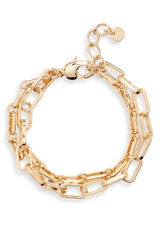 Halogen® Two-Tier Mixed Chain Bracelet