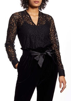 Halogen® V-Neck Lace Top