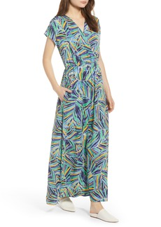 Halogen® V-Neck Maxi Dress (Regular & Petite)
