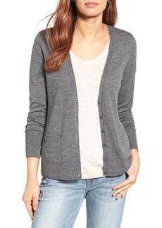 Halogen® V-Neck Merino Wool Cardigan (Regular & Petite)