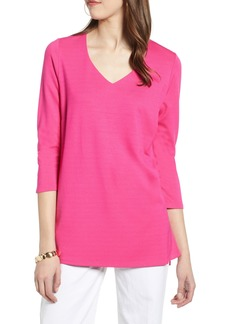 Halogen® V-Neck Ponte Knit Tunic