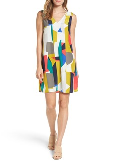 Halogen® V-Neck Shift Dress (Regular & Petite)