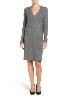 Halogen® V-Neck Sweater Dress (Regular & Petite)