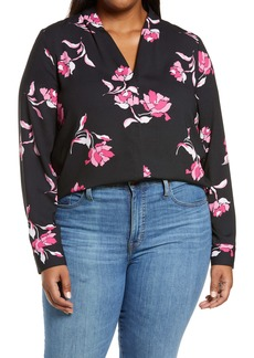 Halogen V-Neck Top (Plus Size)