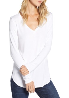 Halogen® V-Neck Tunic (Regular & Petite)