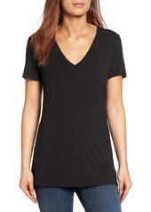 Halogen® V-Neck Tunic Tee (Regular & Petite)