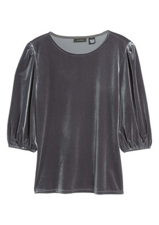 Halogen® Velour Bubble Sleeve Top