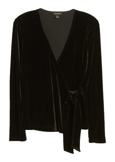 Halogen® Velvet Ballet Wrap Top