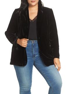 Halogen® Velvet Blazer (Plus Size)