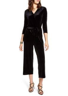 Halogen® Velvet Crop Jumpsuit