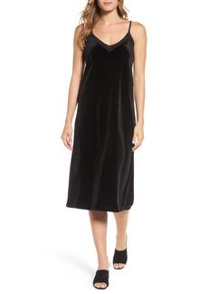 Halogen® Velvet Slipdress (Regular & Petite)