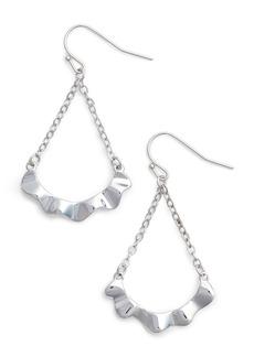 Halogen® Waved Teardrop Earrings