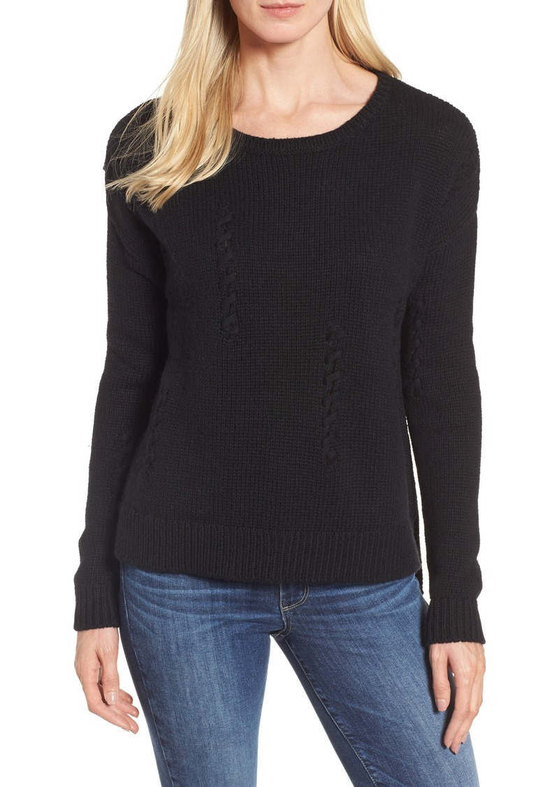 Halogen® Whipstitch Detail Sweater