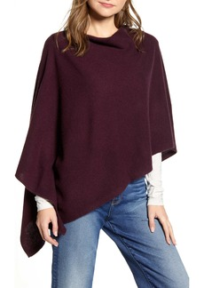 Halogen® Wool & Cashmere Asymmetrical Poncho