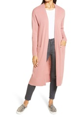 Halogen® Wool & Cashmere Long Cardigan (Regular & Petite)