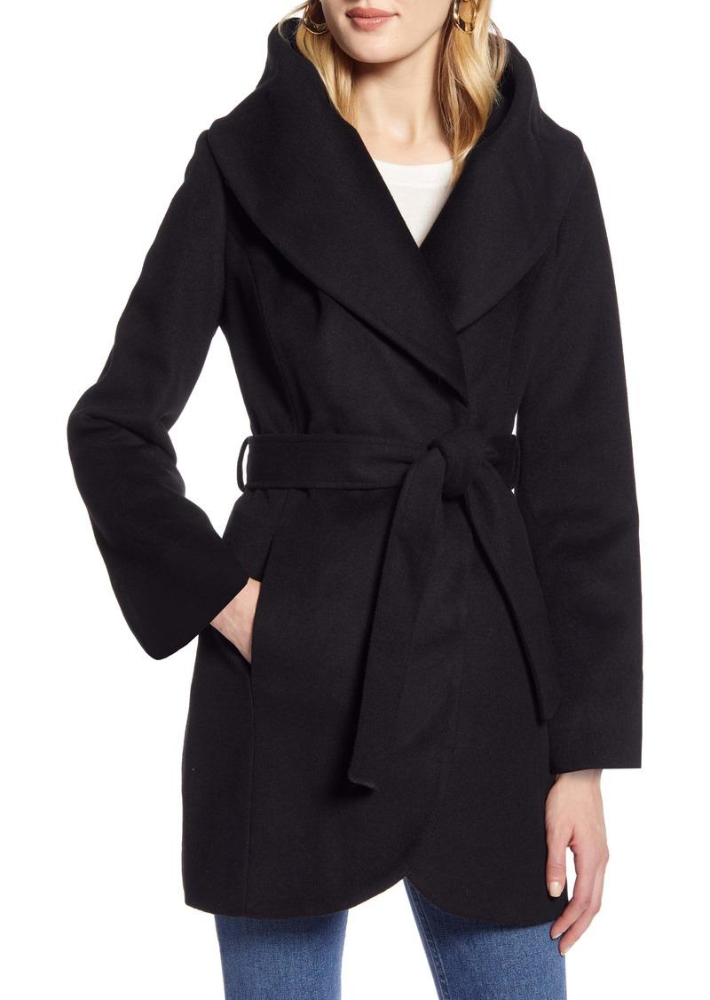 Halogen® Wool Blend Wrap Coat