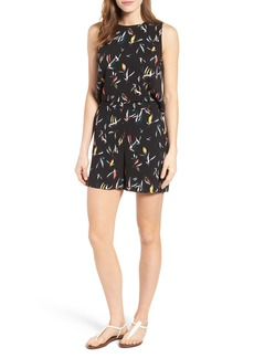 Halogen® Wrap Back Print Romper (Regular & Petite)