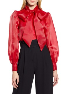 Halogen® x Atlantic-Pacific Bow Collar Blouse (Nordstrom Exclusive)