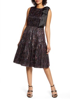 Halogen® x Atlantic-Pacific Bow Tinsel A-Line Dress (Nordstrom Exclusive)