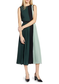 Halogen® x Atlantic-Pacific Colorblock Pleated Midi Dress (Regular & Petite)
