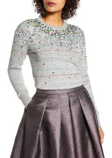 Halogen® x Atlantic-Pacific Confetti Metallic Stripe Sweater (Nordstrom Exclusive)