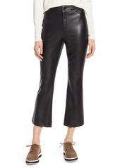 Halogen® x Atlantic-Pacific Crop Flare Faux Leather Pants (Nordstrom Exclusive)