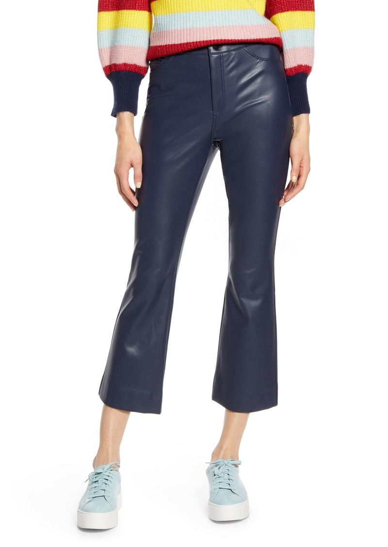Halogen® x Atlantic-Pacific Crop Flare Faux Leather Pants (Nordstrom Exclusive)