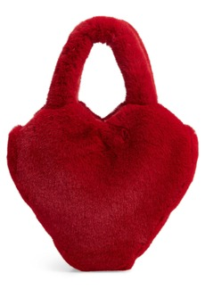 Halogen x Atlantic-Pacific Faux Fur Heart Bag (Nordstrom Exclusive)