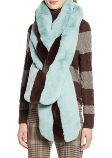 Halogen® x Atlantic-Pacific Faux Fur Pull Through Scarf (Nordstrom Exclusive)