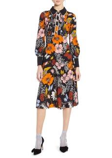 Halogen® x Atlantic-Pacific Floral Print A-Line Dress
