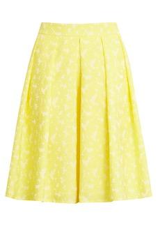Halogen® x Atlantic-Pacific Jacquard Pleat Skirt