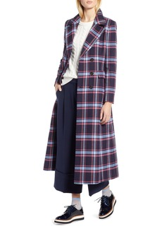 Halogen® x Atlantic-Pacific Long Plaid Coat