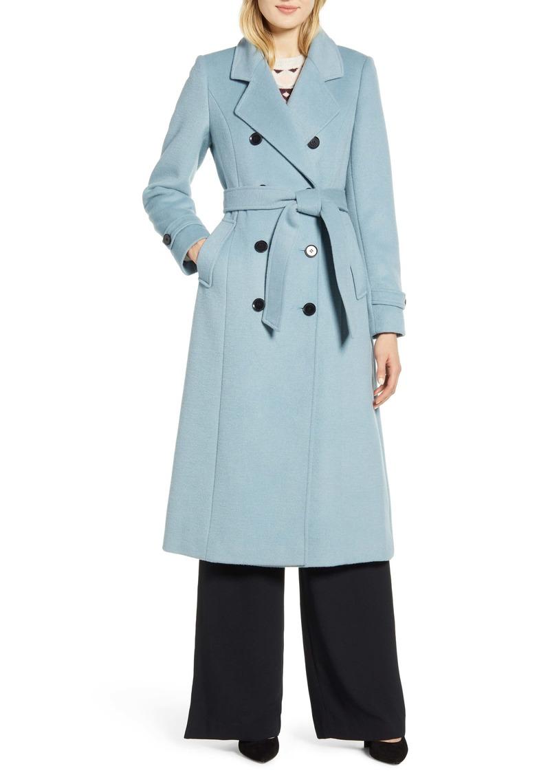 Halogen® x Atlantic-Pacific Long Wool Blend Trench Coat (Nordstrom Exclusive)