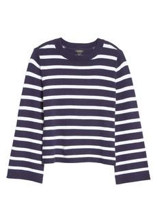 Halogen® x Atlantic-Pacific Oversize Stripe Sweater