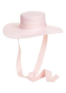Halogen® x Atlantic-Pacific Oversized Tie Boater Hat