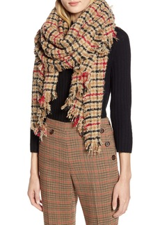 Halogen® x Atlantic-Pacific Plaid Blanket Scarf (Nordstrom Exclusive)