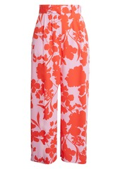 Halogen® x Atlantic-Pacific Pleat Detail Print Pants