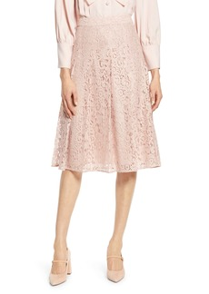 Halogen® x Atlantic-Pacific Pleated Lace Skirt (Nordstrom Exclusive)