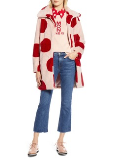 Halogen® x Atlantic-Pacific Polka Dot Faux Fur Coat (Nordstrom Exclusive)