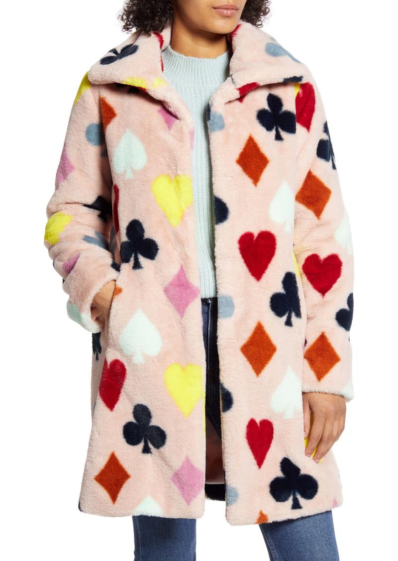 Halogen® x Atlantic-Pacific Print Faux Fur Coat (Nordstrom Exclusive)