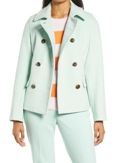 Halogen® x Atlantic-Pacific Short Double Breasted Coat