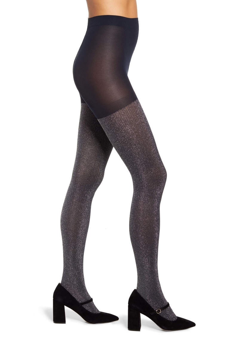 Halogen® x Atlantic-Pacific Sparkle Ribbed Tights (Nordstrom Exclusive)
