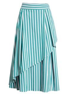 Halogen® x Atlantic-Pacific Stripe Asymmetrical Skirt