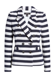 Halogen® x Atlantic-Pacific Stripe Blazer