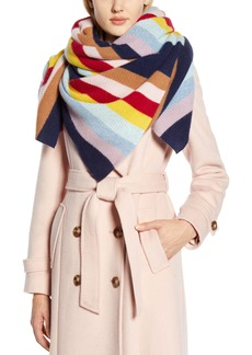 Halogen® x Atlantic-Pacific Stripe Cashmere Blanket Scarf (Nordstrom Exclusive)