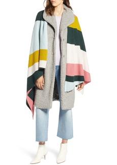 Halogen® x Atlantic-Pacific Stripe Cashmere Wrap