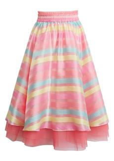 Halogen® x Atlantic-Pacific Stripe Organza Skirt